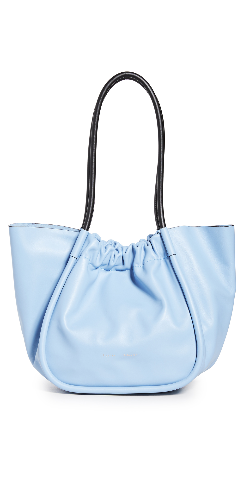 Proenza Schouler Ruched L Leather Tote In Sky Blue