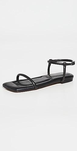 Proenza Schouler - 方形加垫平底凉鞋