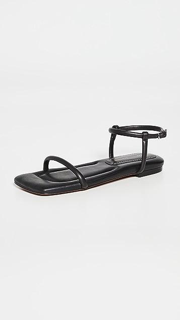 Proenza Schouler 方形加垫平底凉鞋