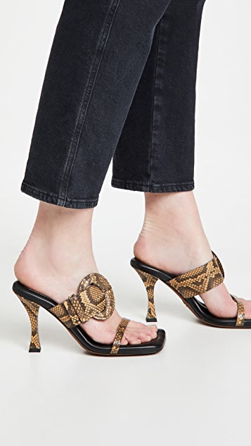 Proenza Schouler Buckle Square Padded Sandals