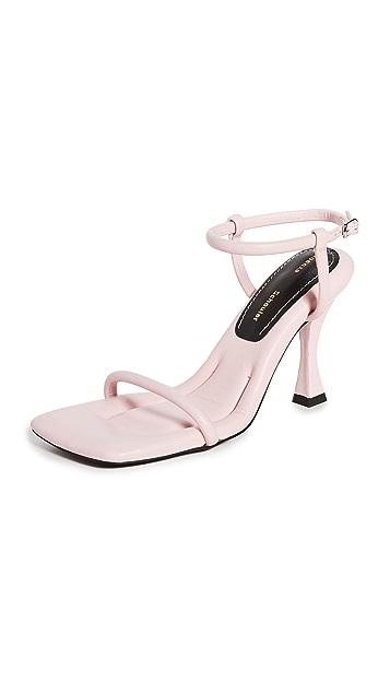 Proenza Schouler 90mm 方形加垫凉鞋
