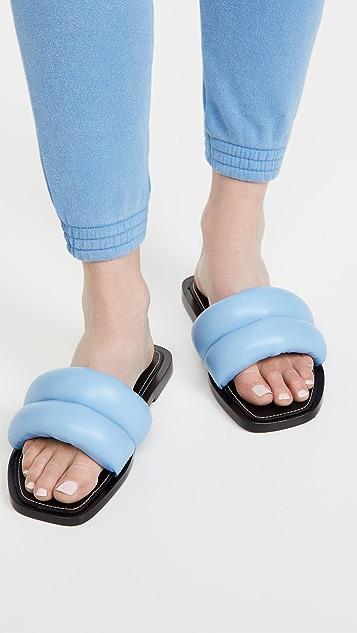 Proenza Schouler 毛绒凉拖鞋