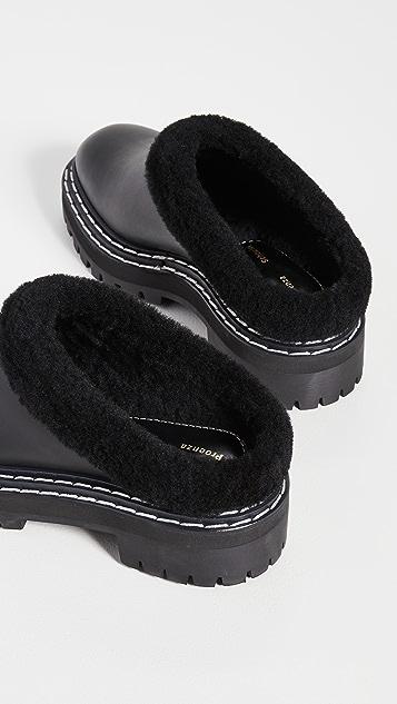 Proenza Schouler 沟纹鞋底穆勒鞋
