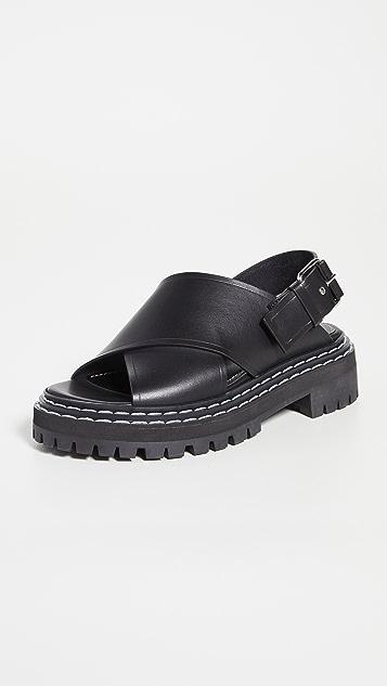 Proenza Schouler 沟纹鞋底凉鞋