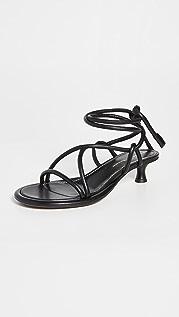 Proenza Schouler Pipe Ankle Tie 40mm Sandals