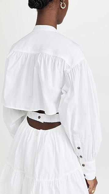 Proenza Schouler Poplin Open Back Dress