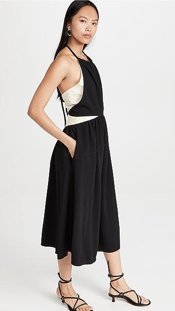 Proenza Schouler Crepe Halter Dress