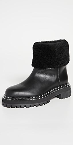 Proenza Schouler - Lug Sole Shearling Ankle Boots