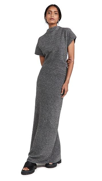 Proenza Schouler 羊毛针织扭褶连衣裙