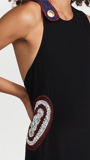 Proenza Schouler 绉绸钩针编织镶边连衣裙