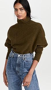 Proenza Schouler Wool Knit Twisted Turtleneck