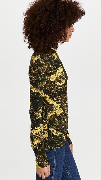 Proenza Schouler 涡纹印花平纹针织高领上衣