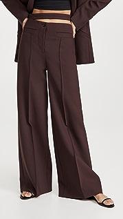 Proenza Schouler 高科技羊毛开衩腰部长裤