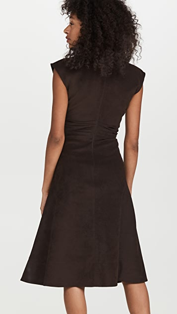 Proenza Schouler Brushed Viscose Cinched Dress