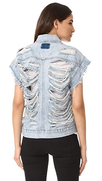 PRPS Colossal Cat Slashes Denim Vest