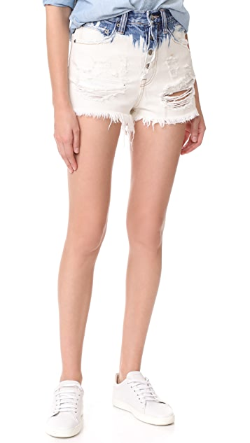 PRPS Amx High Waist Boyfriend Shorts