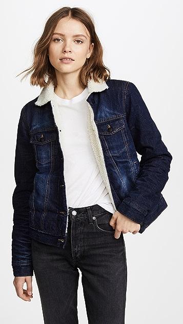 PRPS Faux Shearling Jacket - Vintage Blue