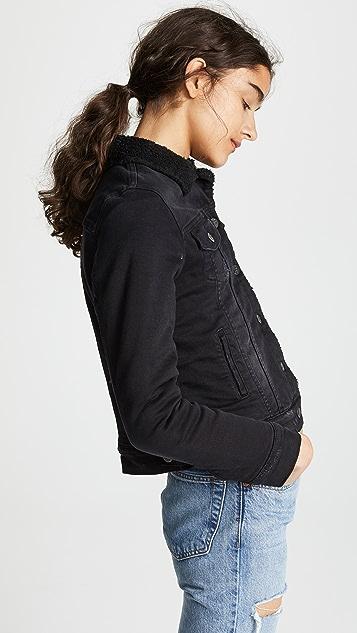 PRPS Sherpa Lined Denim Jacket