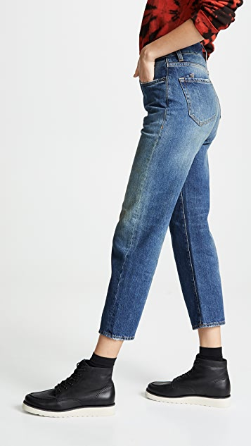 PRPS C10 High Rise Crop Straight Leg Jeans