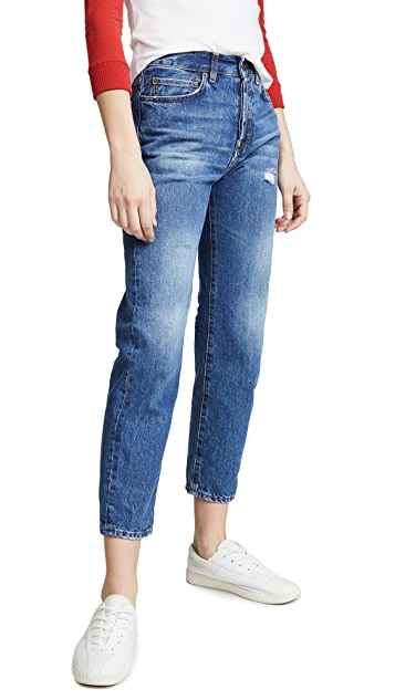 PRPS Relaxed Cropped Boyfriend Jeans