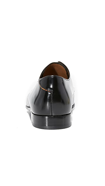 PS Paul Smith Robin High Shine Cap Toe Lace Up Shoes