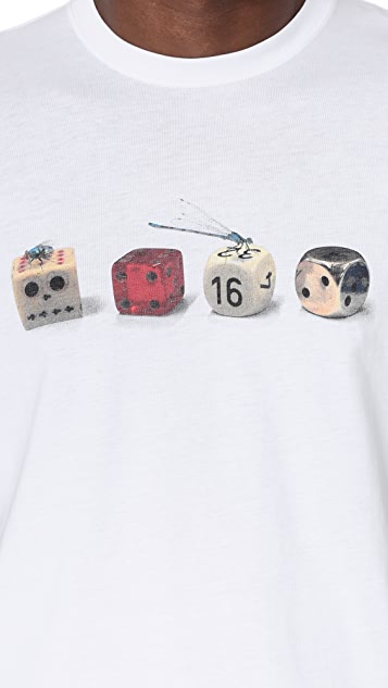 PS by Paul Smith Regular Fit Tee with Dice Print