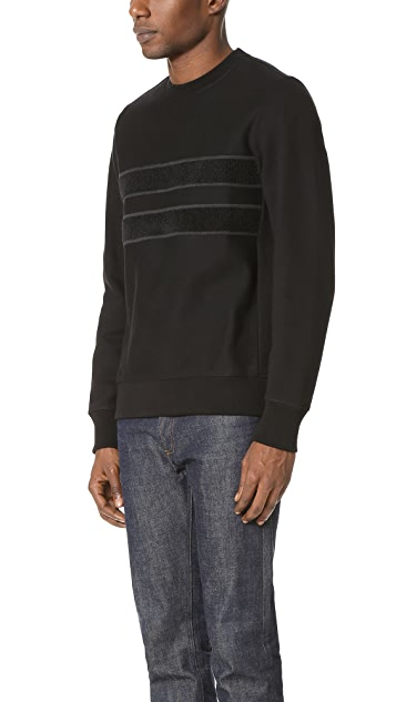 PS by Paul Smith Cotton Crew Neck Sweatshirt with Tonal Embroidery
