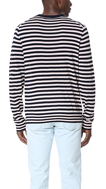 PS by Paul Smith Striped Merino Wool Crew Neck Sweater