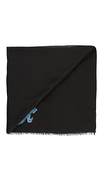 PS by Paul Smith Embrodered Dino Scarf
