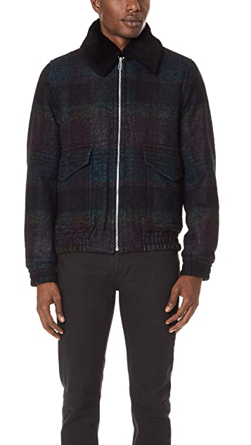 PS by Paul Smith Flight Jacket with Sheepskin Collar