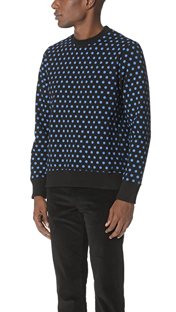 PS by Paul Smith Polka Dot Crew Sweatshirt
