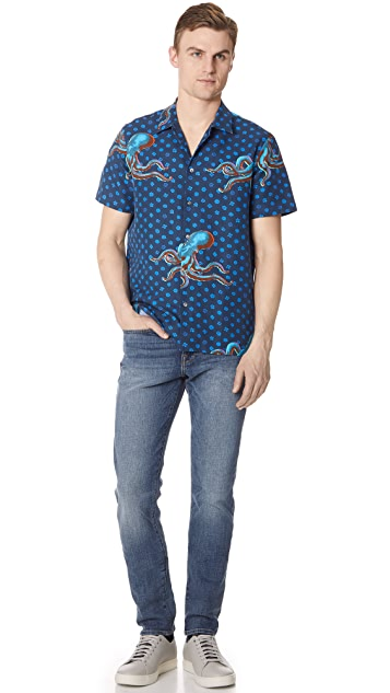 PS Paul Smith Octopus Short Sleeve Casual Fit Shirt
