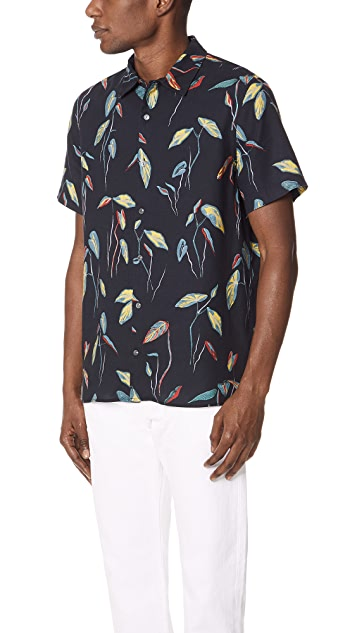 PS Paul Smith Leaves Casual Fit Shirt