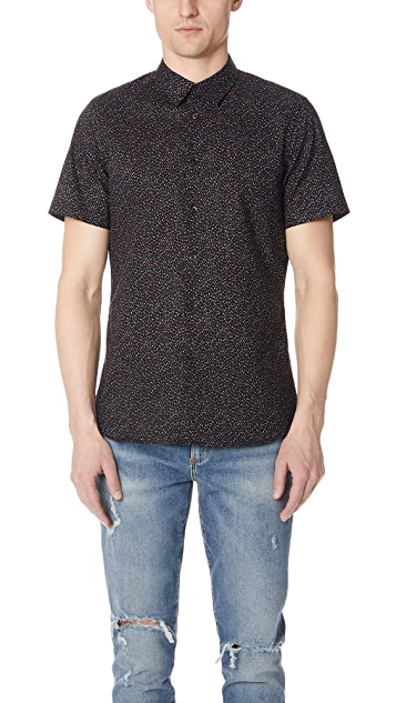 PS by Paul Smith Mini Dots Short Sleeve Slim Fit Shirt