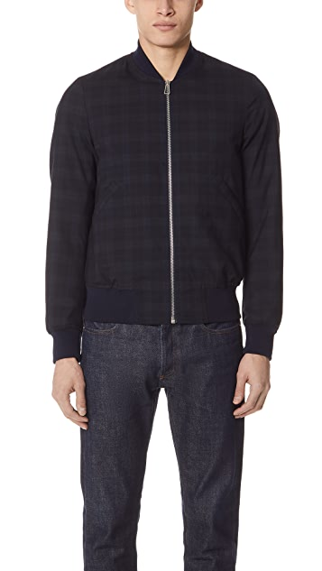 PS by Paul Smith Plaid Bomber Jacket