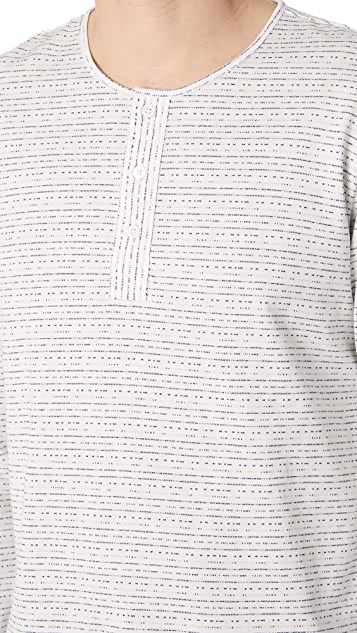 PS by Paul Smith Regular Fit Long Sleeve Grandad Henley