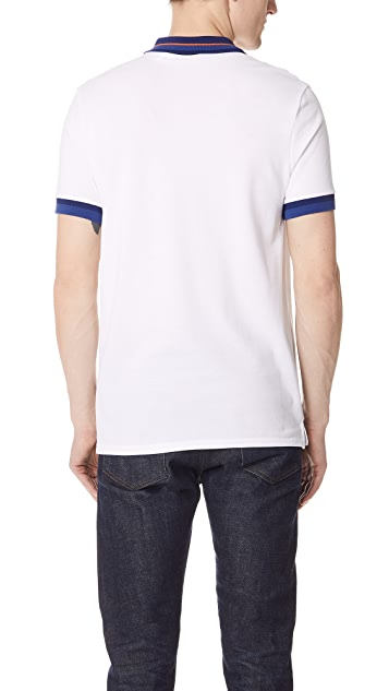 PS by Paul Smith Regular Fit Polo with Stripe Trim