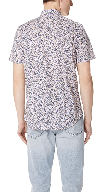 PS by Paul Smith Short Sleeve Floral Woven Shirt