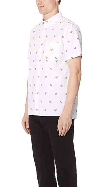 PS by Paul Smith Short Sleeve Casual Fit Zebra Shirt