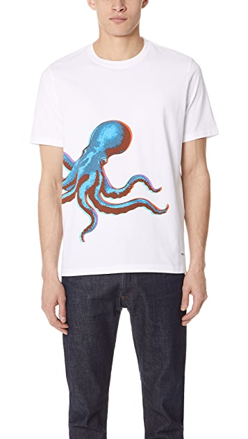 PS by Paul Smith Regular Fit Octopus Tee