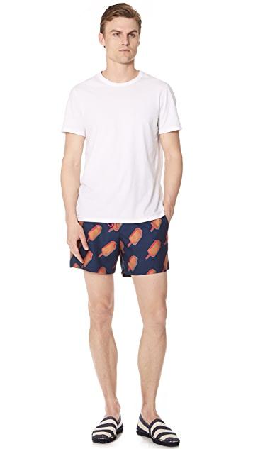 PS by Paul Smith Classic Popsicle Patch Pocket Swim Shorts