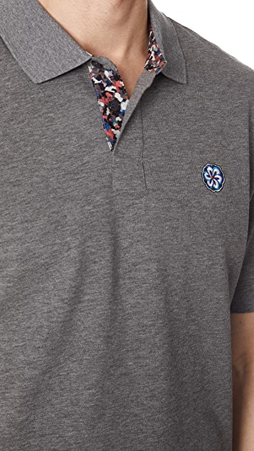 PS Paul Smith Flower Embroidery Polo Shirt