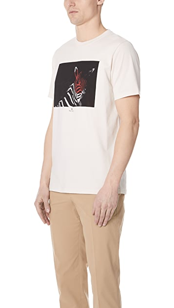 PS by Paul Smith Regular Fit Zebra Shirt