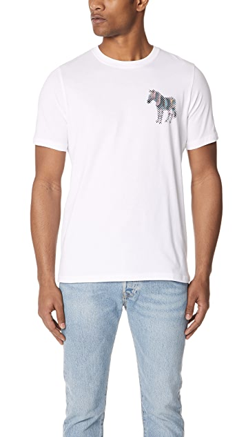 PS by Paul Smith Regular Fit Zebra Tee