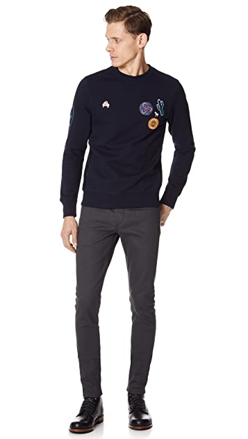 PS by Paul Smith Embroidered Crew Neck Sweatshirt