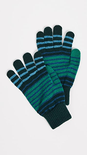 PS Paul Smith Compo Stripe Gloves