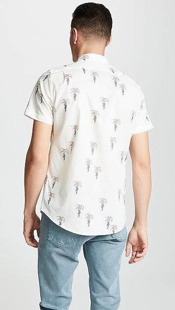 PS Paul Smith Short Sleeve Tailored Palm Sprint Shirt