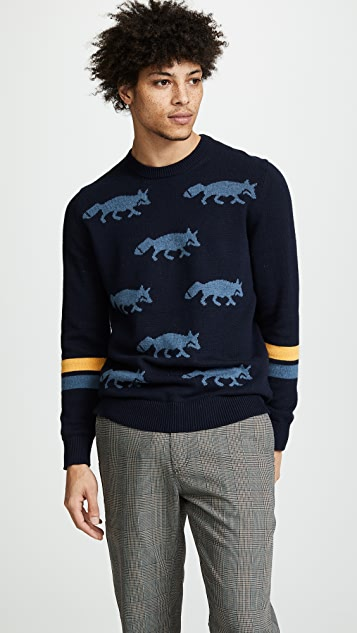 PS Paul Smith Intarsia Fox Sweater