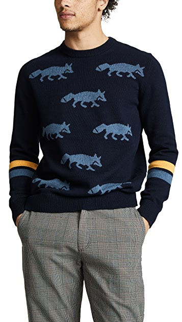 PS by Paul Smith Intarsia Fox Sweater