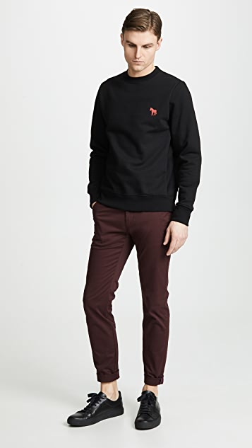 PS Paul Smith Crew Neck Sweatshirt With Zebra Print